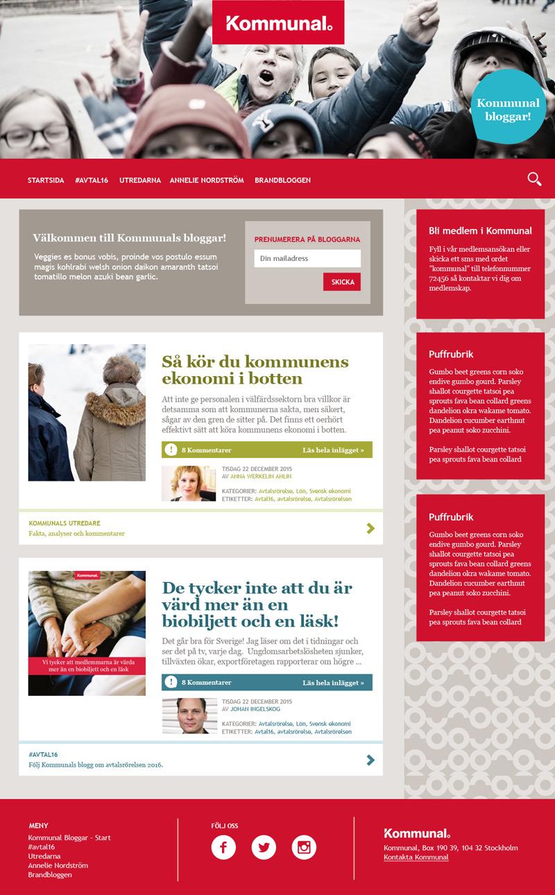 Kommunal bloggar